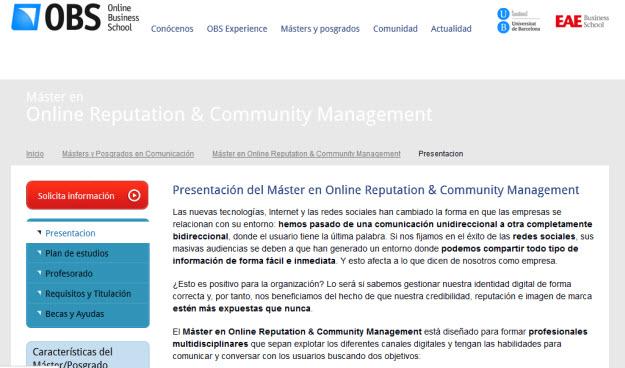 Máster en community management