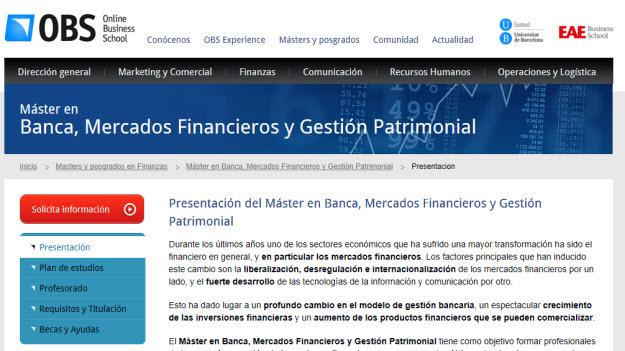 Máster en mercados financieros