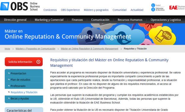Requisitos en los cursos baratos de Community Manager
