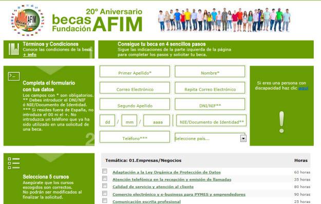 Cursos gratuitos con becas en Fundacion AFIM