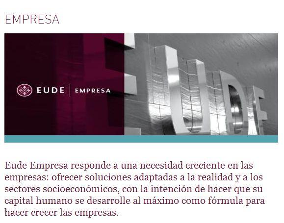 Opiniones EUDE, valores de empresa