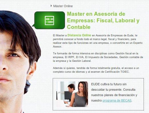 Curso contabilidad o Master en Asesoría de Empresas: elige con EUDE