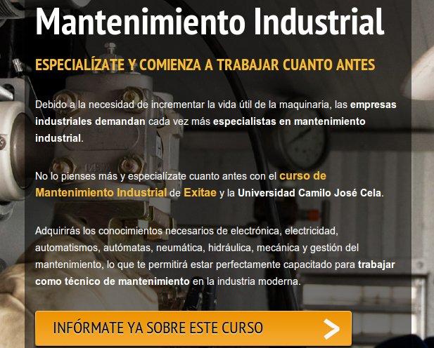 El Máster en mantenimiento industrial de Master D