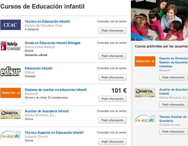 Cursos educación infantil online