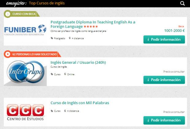cursos de ingles emagister