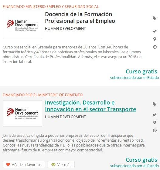 cursos Junta de Andalucía