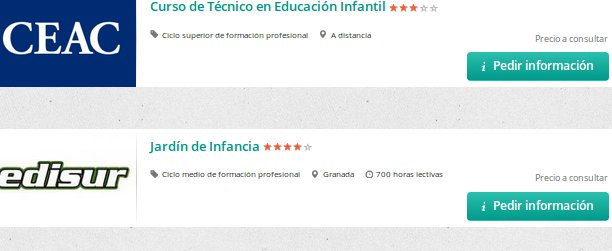 cursos educacion infantil homologados