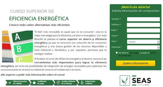 CURSO EFICIENCIA ENERGÉTICA PRECIOS