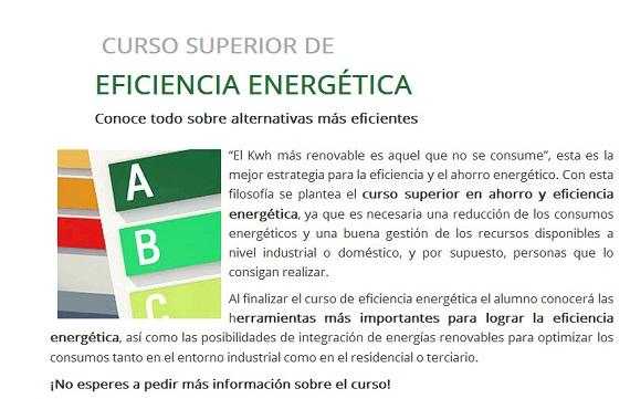 CURSO EFICIENCIA ENERGÉTICA
