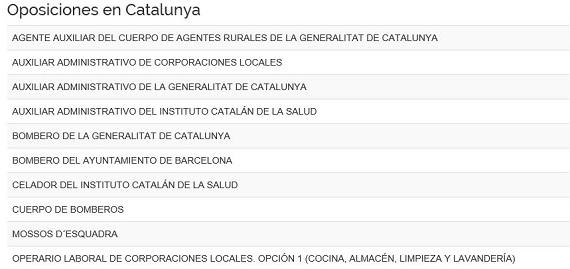 Oposiciones Barcelona