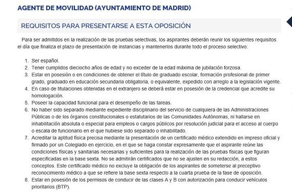 oposiciones madrid