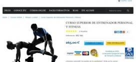Curso de entrenador personal online: opiniones, temario y precios