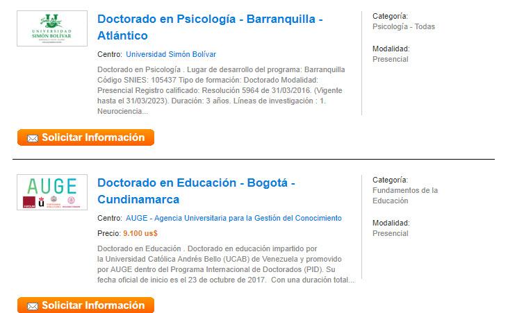 doctorados educaedu colombia