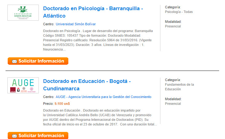 doctorados educaedu colombia
