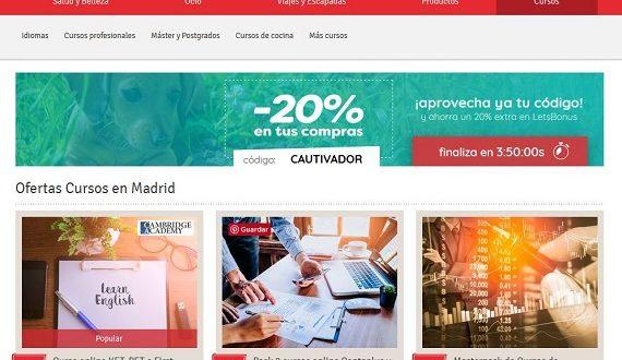 Letsbonus Cursos online y presenciales en Madrid y Barcelona: opiniones