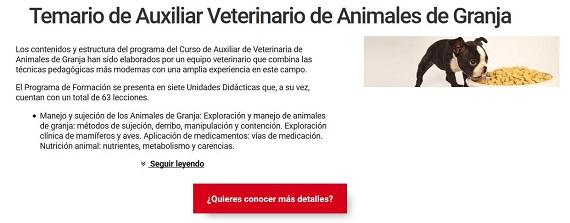 curso veterinario para granjas