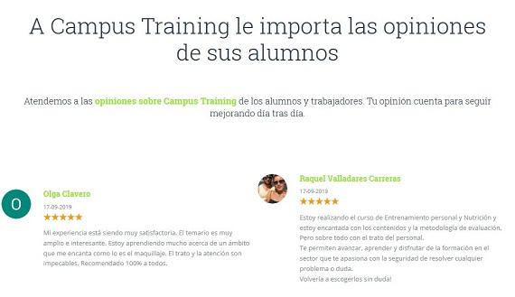 campus training opiniones