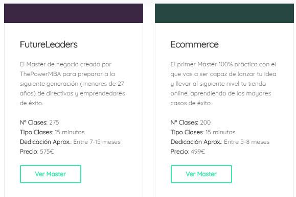 thepowermba precios masters online marketing digital negocios